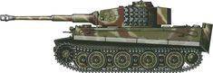 Tiger H/E camouflage patterns - Normandy, June 1944 sSS-PzAbt102
