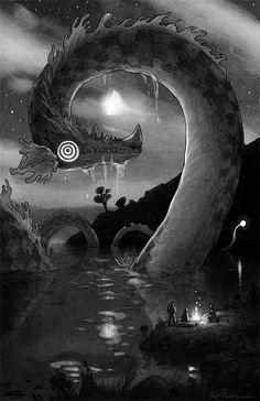 Loch Ness Monster by Matt Rockefeller http://mrockefeller.tumblr.com/