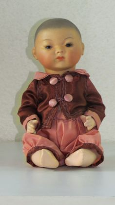 Bambino Asian A  Bleuette brother  Poupée ancienne  reproduction antique doll