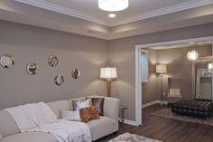 outstanding mega greige living room | Sherwin Williams Mega Greige | Our house progress in 2019 ...