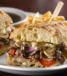 Recipe for Cheese Steak Sandwich with BBQ Mayonnaise