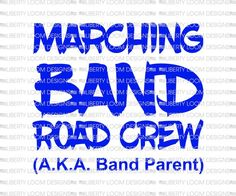 Excited to share this item from my shop: Marching band Road Crew Marching Band Mom, Marching Band Shirts, Band Mom Shirts, Love Band, Music Humor, Silhouette Designer Edition, Cricut Explore, Music Notes, Svg Files For Cricut