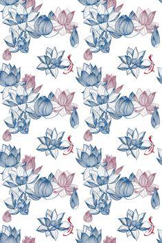 Lotus Flowers, Pattern Design