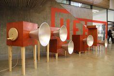 yuri suzuki: garden of russolo sound installation at V&A during london design festival 2013 - designboom | architecture & design magazine