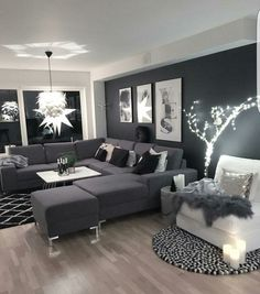 Looks like so comfortable and chic... I always like making combination black objects and furniture in my living room ... The Best of home interior in 2017.