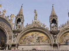 San Marco & Piazza - Venice, Italy - pper Facade - 'Christ's Resurrection' Mosaic