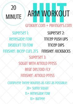 20 Minute HIIT Arm Workout