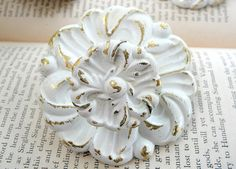 knobs Drawer Pulls And Knobs, Knobs And Handles, Grey Yellow Nursery, Vintage Door Knobs, Door Knobs And Knockers, Unique Doors, Shades Of White, Nursery Inspiration, Vintage Shabby Chic