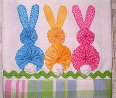 Three Little Bunnies Tea Towel. ADORABLE.