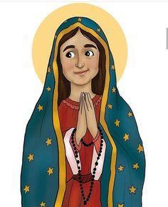 La imagen puede contener: 1 persona Catholic Art, Catholic Saints, Religious Art, Christ The Good Shepherd, Jesus Artwork, Maria Goretti, Small Tats, Jesus Painting, Christian Images