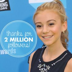G Hannelius happy about getting 2 million likes on Facebook (July 24, 2014)