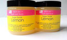 Organic Lemon Sugar Scrub, All Natural Body Scrub by ZENfulNaturals, $8.50 #sugarscrub #lemon