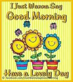 I just wanna say Good Morning Have a Lovely Day morning good morning good morning greeting good morning comment Good Morning Wishes Gif, Lovely Good Morning Images, Good Morning Friends Quotes, Good Morning Inspiration, Good Morning Cards, Good Morning Funny, Morning Greetings Quotes, Good Morning Sunshine, Morning Blessings
