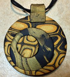 Handcrafted Polymer Clay Pendant Handmade Polymer by ChaiDesign