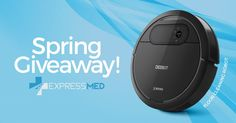 Enter the ExpressMed Spring Cleaning Super Giveaway! Win one of two Awesome Prizes! Grand prize is a DEEBOT Robotic Vacuum Cleaner! Runner up will win a $150 AMEX card! #Springcleaning #Contest #ExpressMed Click here to Enter: http://woobox.com/w8uwu5