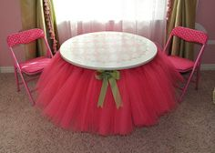 This is a cute table for a little girls' tea or princess party