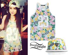 "Becky G: Floral ""23"" Tank & Snapback 