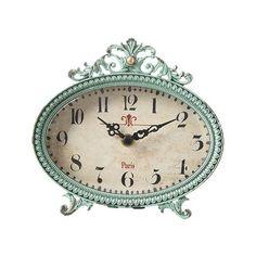 Beatrice Table Clock Best of Decor ❤ liked on Polyvore featuring home, home decor, clocks, aqua clock, inspirational home decor, mantel clocks, mantel-clock and aqua home decor