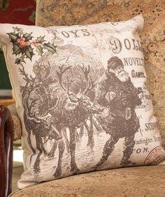 Love this 'Toys & Dolls' Santa Pillow on #zulily! #zulilyfinds