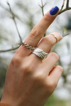 Wonderful You wearing our Wing Ring and Flock Eternity Ring Handcrafted Jewelry, Unique Jewelry, Couple Rings, Contemporary Jewellery, Eternity Ring, Fashion Necklace, Feathers, Jewelry Collection, Wings