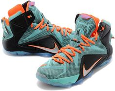on sale 87dcc fa6cc Lebron 12 Jade Blue Orange Black0 Lebron James 12, Lebron 11, Nike Lebron,