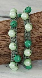 Ibiza look wikkel armband groen G139   Ibiza look armbanden   Idhuna Jewels - Fashion sieraden