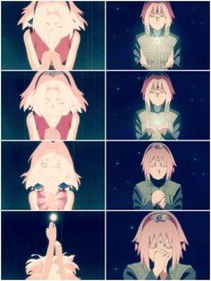 Sakura Chan don't cry. Sasuke Uchiha, Naruto Shippuden, Boruto, Narusaku, Sakura Haruno, Sakura And Sasuke, Fotos Do Anime Naruto, Otaku, Naruto Girls