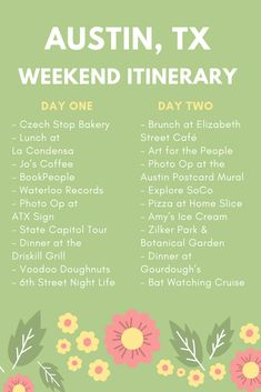 Are you planning a trip to ATX? Check out our ulltimate Austin, TX weekend itinerary. Texas Vacations, Texas Roadtrip, Texas Travel, Travel Usa, Family Vacations, Texas Bucket List, Future Travel, Weekend Trips, Travel Around The World