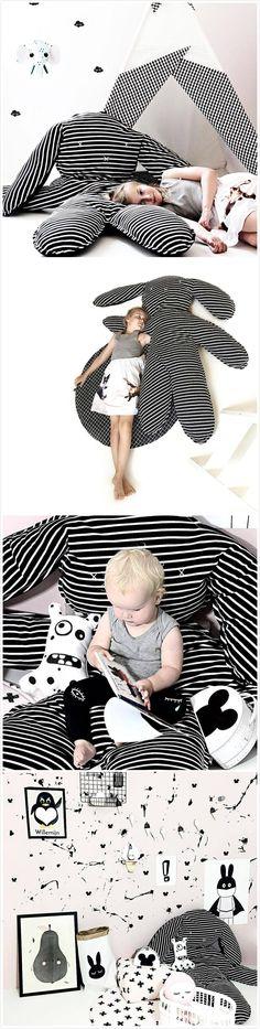 INS Hot Sale!Striped Rabbit Baby Playmat