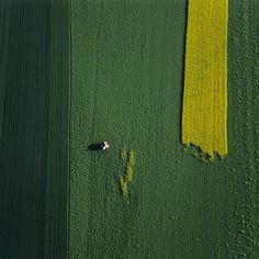 55 аэрофотографий о том, что наша планета самая красивая. Поле с часовней и цветущим рапсом. Автор фото: Клаус Ляйдорф