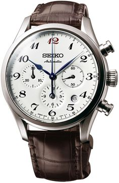 Seiko Watch Presage 60th Anniversary Mechanical Chronograph - gold watch, popular watches for men, gruen watch *ad