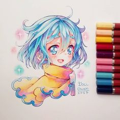A small explanation in Englis Copic Drawings, Anime Drawings Sketches, Anime Sketch, Manga Drawing, Manga Art, Cute Drawings, Kawaii Art, Kawaii Anime, Copic Art