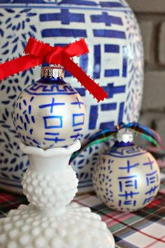Doing some of these! Blue & White Ginger Jar Inspired   Southern State of Mind