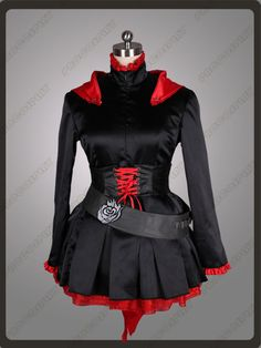 RWBY Ruby red and black cosplay outfit