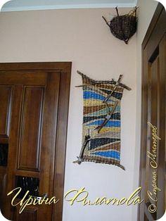 Картина панно рисунок Плетение Время вить гнёзда   Бумага газетная Материал природный Трубочки бумажные фото 13