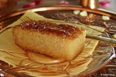 Greek Sweets, Greek Desserts, Greek Recipes, Delicious Desserts, Dessert Recipes, Yummy Food, Greek Cake, Cyprus Food, Food Network Recipes