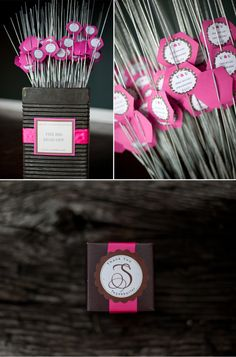 Pink and brown sparklers for awesome photo opps!