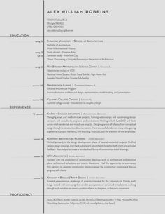 The Top Architecture Résumé/CV Designs,Submitted by Alex William Robbins If you like this cv template. Check others on my CV template board :) Thanks for sharing! Interior Design Internships, Interior Design Resume, Cv Design, Resume Design, Report Design, Design Trends, Report Layout, Logo Design, Design Ideas