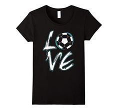LOVE Soccer Youth Kids T shirt Tops Team Sports Soccer Gifts