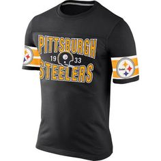 Pittsburgh Steelers Nike Rewind Football T-Shirt – Black