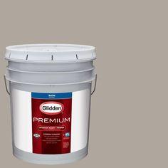 Glidden Premium 5 gal. #HDGWN51U City Loft Grey Satin Interior Paint with Primer