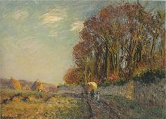 Cart in an Autumn Landscape  -  Gustave Loiseau 1865-1935