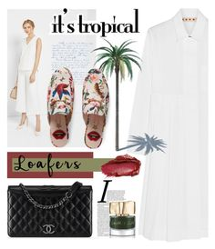 """Footwear Trend: Loafers"" by elena-777s ❤ liked on Polyvore featuring Marni, Chanel, Ted Baker, Urban Decay, Gucci, Smith & Cult, loafers and autumnwinter2016"