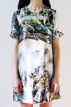 Lost Landscape Shift Dress by ApartofmeAPOM on Etsy, $319.00