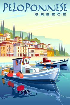 Travel Cards, Vintage Travel Posters, Fishing Boats, Vintage Photos, Illustration, Wall Art Prints, Napkin Ideas, Trivial Pursuit, Adobe