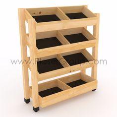 Woodworking Furniture, Diy Furniture, Fireworks Store, Fruit And Veg Shop, Food Cart Design, Shop Shelving, Vegetable Shop, Supermarket Design, Cardboard Display
