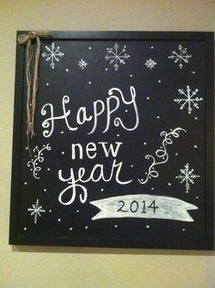 New Years Eve chalkboard art