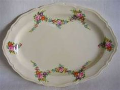 Vintage Edwin M Knowles China Floral Serving Platter Old Plates, Plates And Bowls, Antique China, Vintage China, Farmhouse Bowls, China Platter, Everyday Dishes, Ohio River, Glass Dishes
