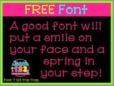 FREE Font is a sample of my bundle of fonts that includes 34 fonts.  If you like this font check out my Mega Bundle!MEGA Bundle of FontsTeach123, fonts, commercial use, clipart, Visit by blog: Click HEREFollow my Facebook page:Click HERECome pin with me!Click HERE
