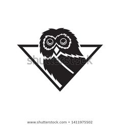 Find Owl Bird Mascot Triangle Flat Black stock images in HD and millions of other royalty-free stock photos, illustrations and vectors in the Shutterstock collection. Triangle Logo, Owl Bird, Animal Logo, Black Style, Black Flats, Royalty Free Photos, New Pictures, Logo Design, Template